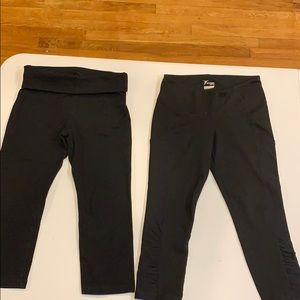 Black work out Capri bundle